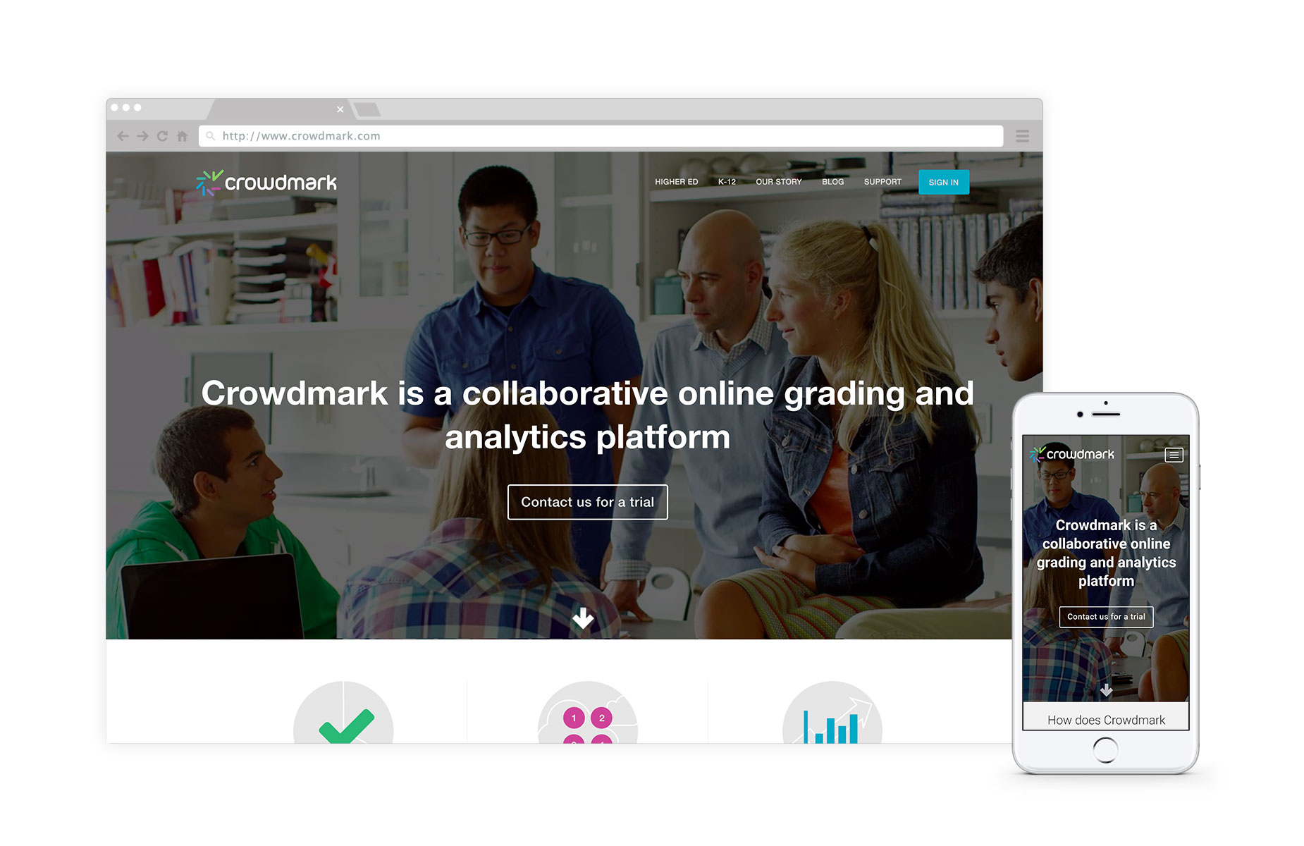 Crowdmark - Crowdmark is a collaborative online grading and analytics platform that enables educators to evaluate student work more effectively. #edtechLearn how we partnered with Crowdmark to bring the startup to profitability