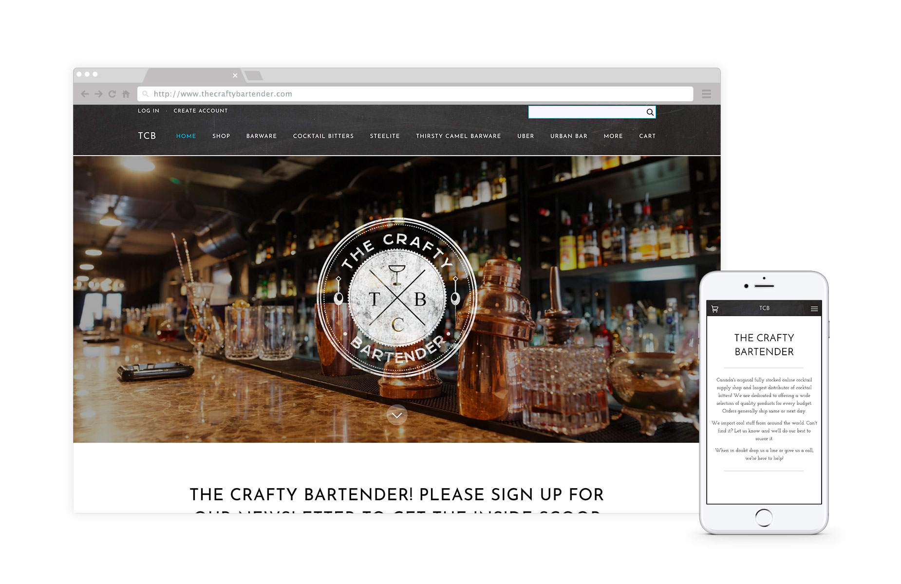 The Crafty Bartender - The Crafty Bartender is Canada's only fully stocked online cocktail supply shop and largest distributor of cocktail bitters. #ecommerceLearn how we worked with TCB to create a Shopify store