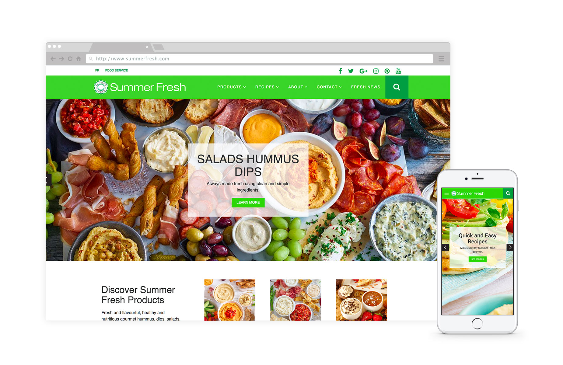 Summer Fresh - Summer Fresh is a Canadian, family-owned manufacturer of gourmet hummus, dips and salads, serving the retail and food-service market for 25 years. #CPGLearn how we showcased Summer Fresh's products and recipes