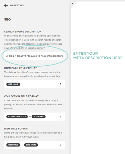 Meta Data For Website Design by Dapper Fox Design