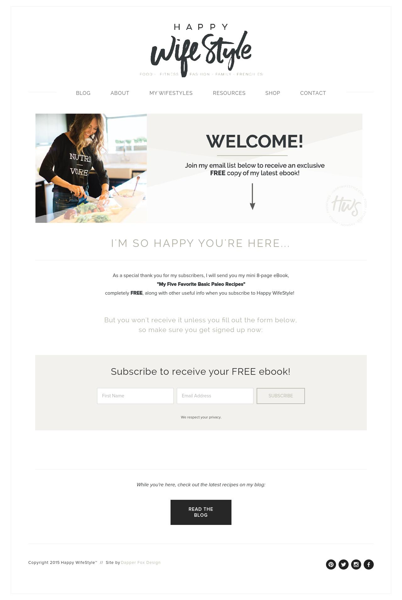 Happy WifeStyle Blog Design by Dapper Fox - Modern and clean website and brand design
