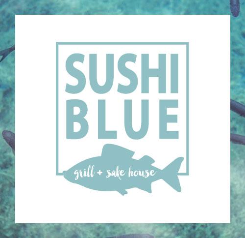 Sushi Blue Park City - Restaurant Branding and Logo Design by Dapper Fox Design