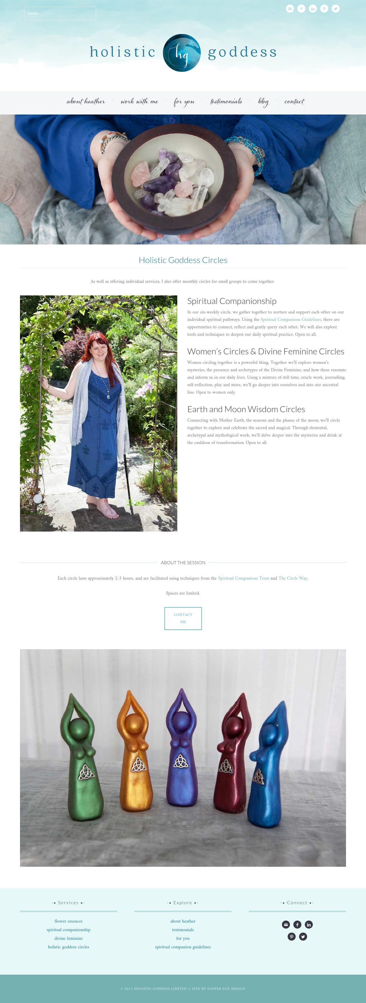 Holistic Goddess Website Design by Dapper Fox Design - Modern Website Design, blue, elegant, sleek, ocean