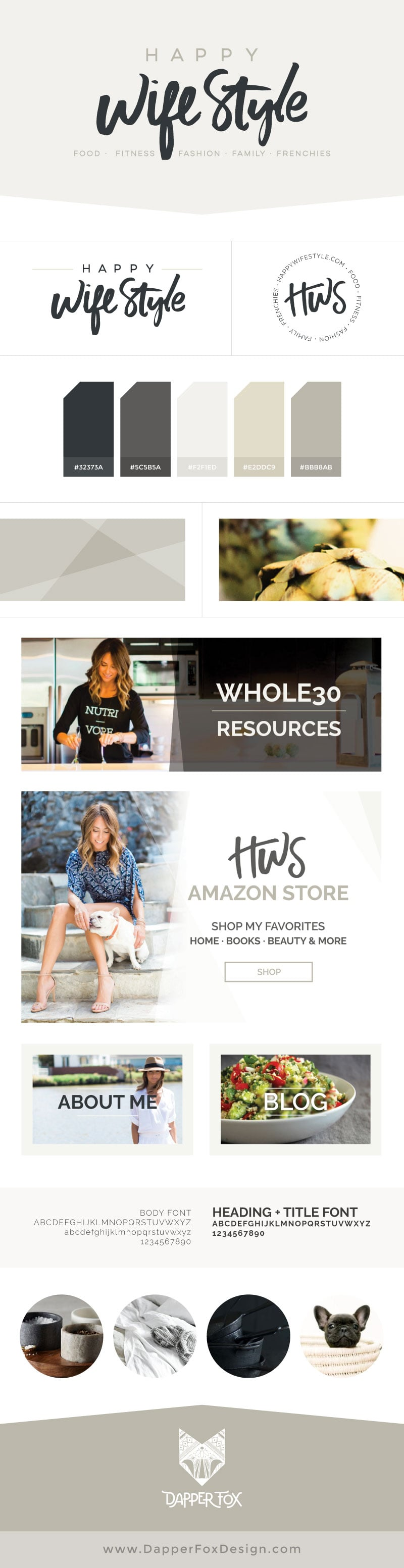 Happy WifeStyle Brand and Logo Design by Dapper Fox - Branding and Website Design for Entrepreneurs. Modern Logo Design