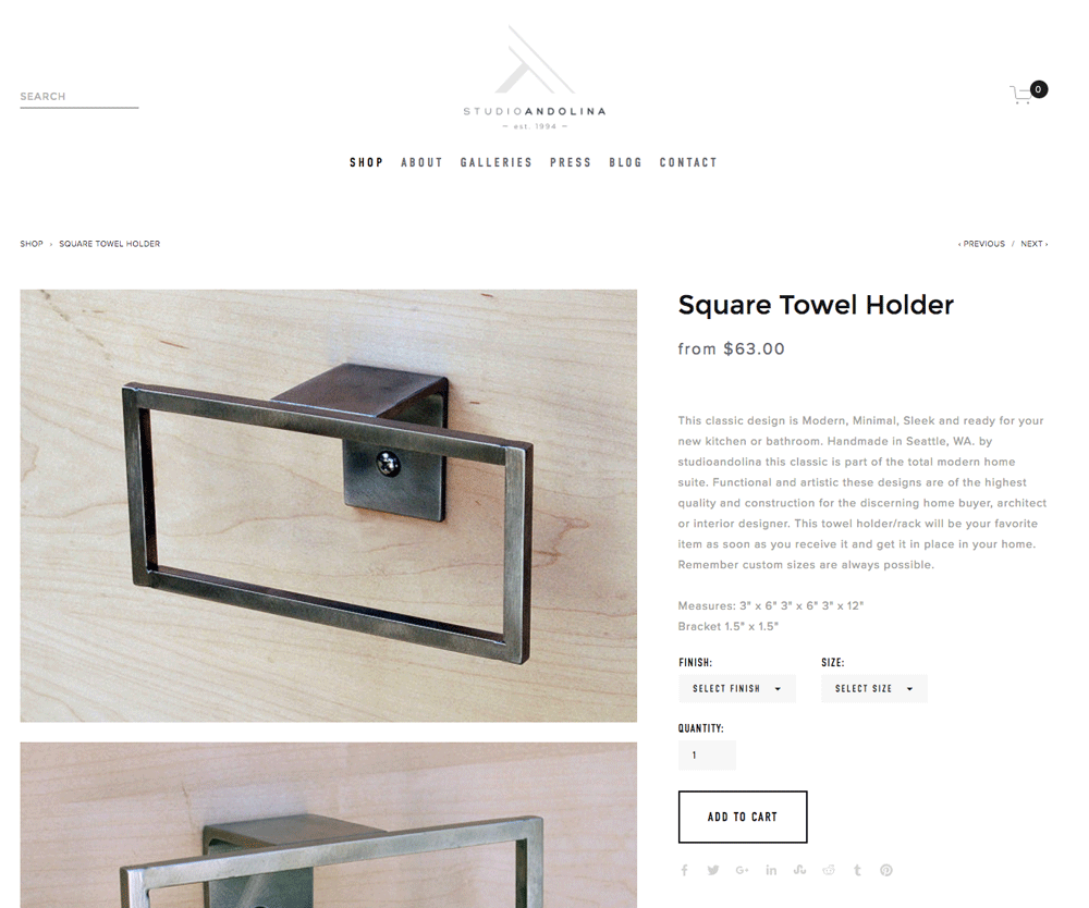 Squarespace Website Design for ecommerce by Dapper Fox Design in Park City Utah