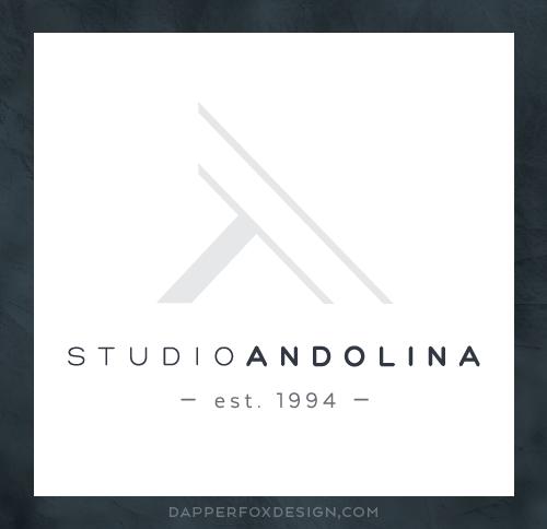 StudioAndolina in Seattle, Washington Fine Art + Home Decor Logo Design by Dapper Fox Design #minimal #modernlogo #masculinelogo #artlogo #logodesign
