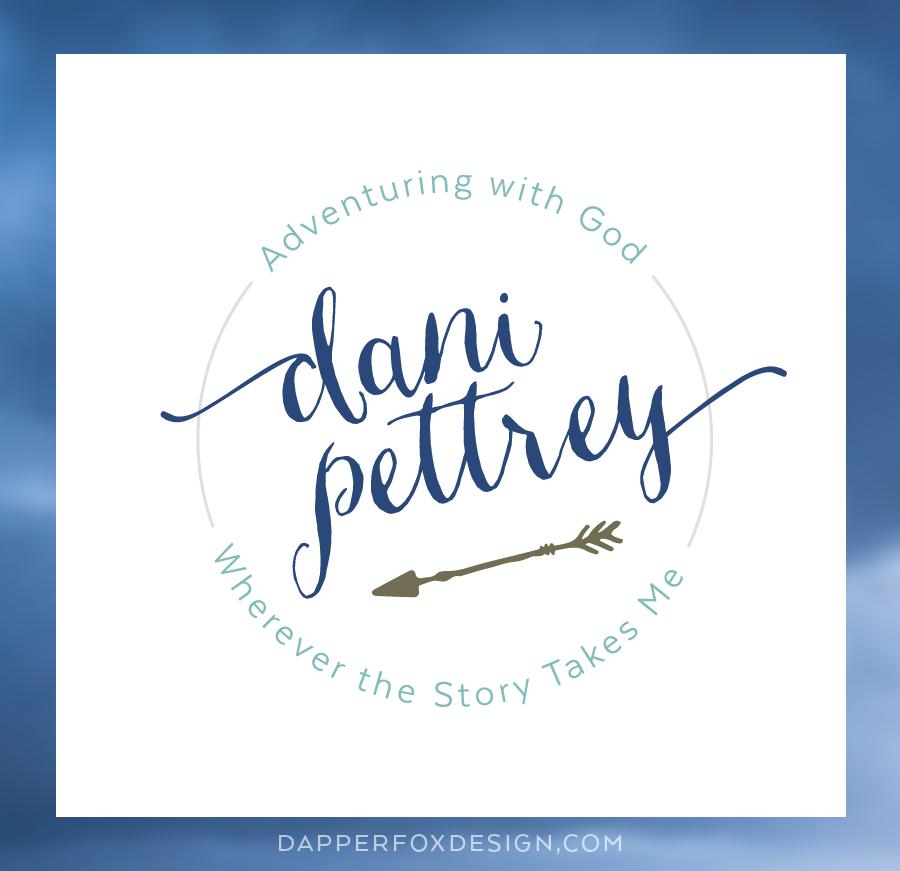 Dani Pettrey Final Logo Design for Brand Design - Feminine Logo Designs #Coastal #Beach #Ocean #Design #Modern Script Font Logo #arrows