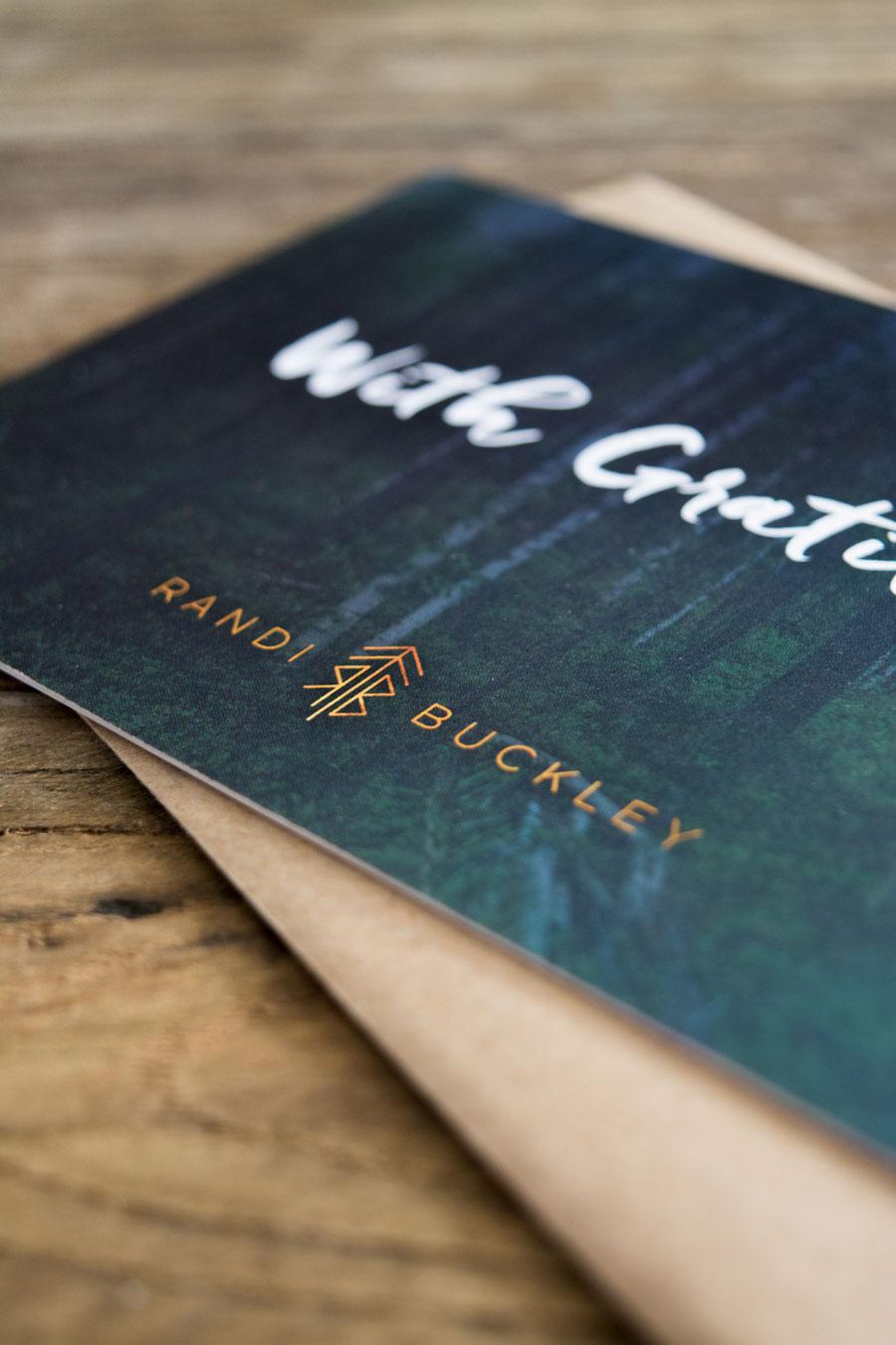 Thank You Card for Randi Buckley by Dapper Fox Design
