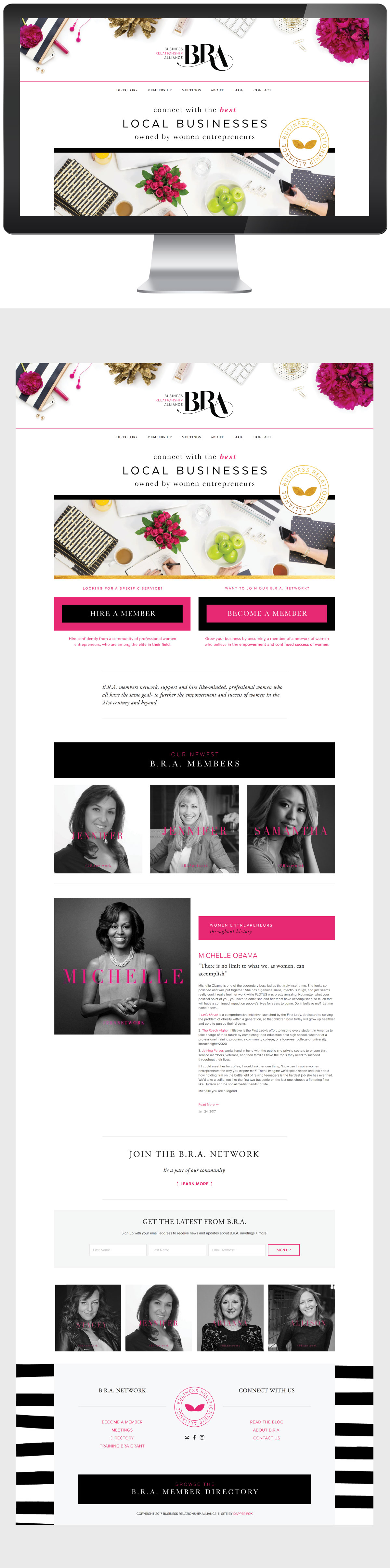 Modern Feminine Squarespace Website Design in Park City Utah