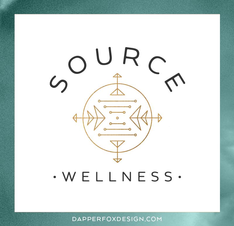 Source Wellness New York Branding Logo and Website Design by Dapper Fox | Calm, Serene, Acupuncture, Spa, Bronze, Nature, Teal, Aqua, Blue, Turquoise, Modern, DNA, Branding