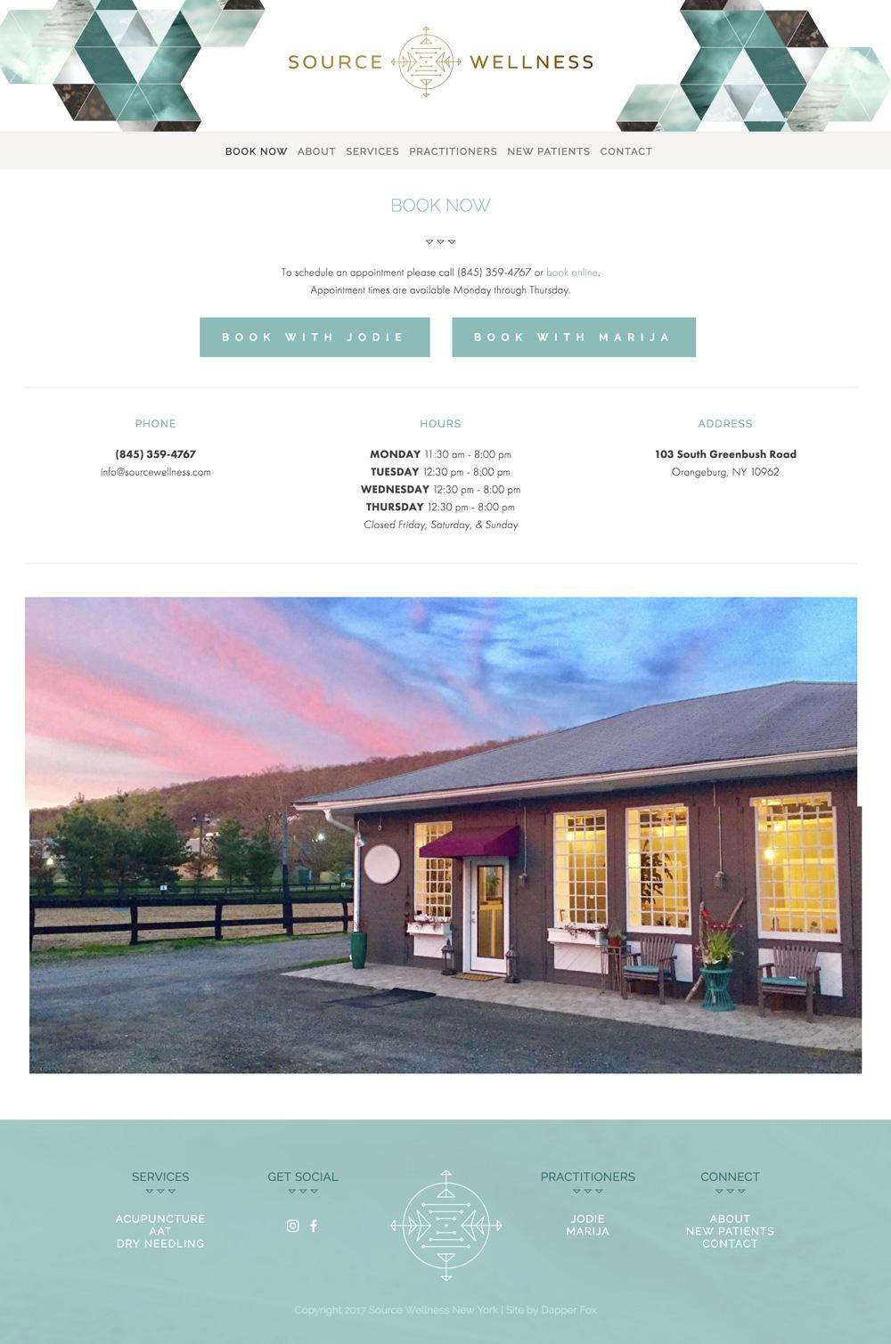 Source Wellness Orangeburg New York Squarespace Website Design and Branding by Dapper Fox Design