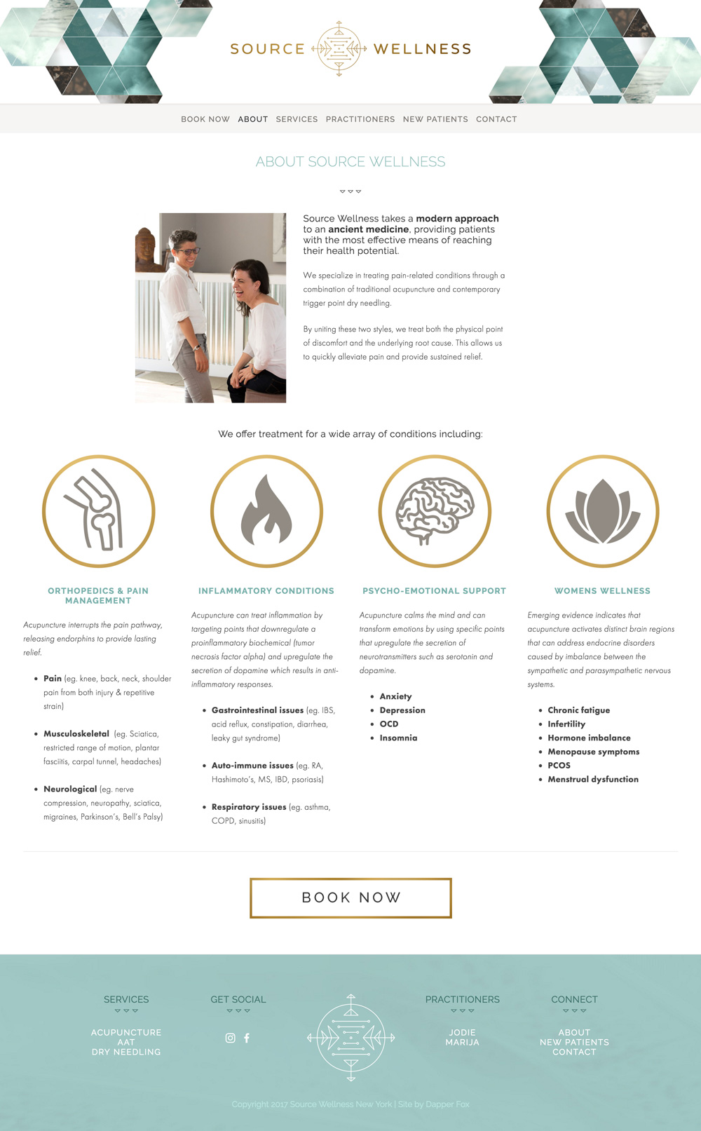 Acupuncture New York Source Wellness Squarespace Website Design and Branding by Dapper Fox Design