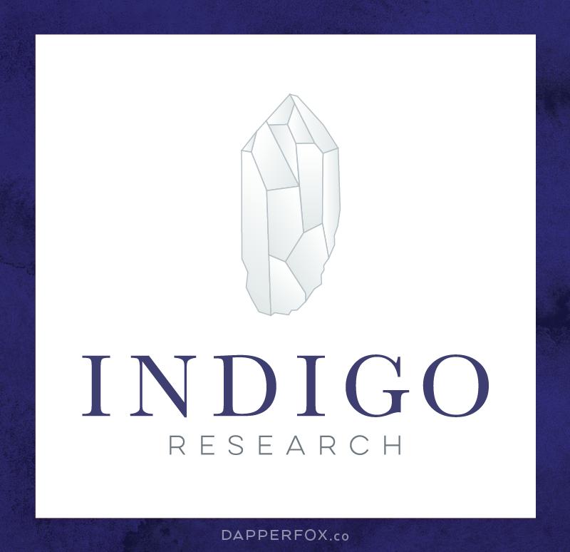 New Brand Design: Indigo Research - Dapper Fox Design | logo concepts | logo design, logo, designer, brand designer, modern, high end logo | www.dapperfoxdesign.com