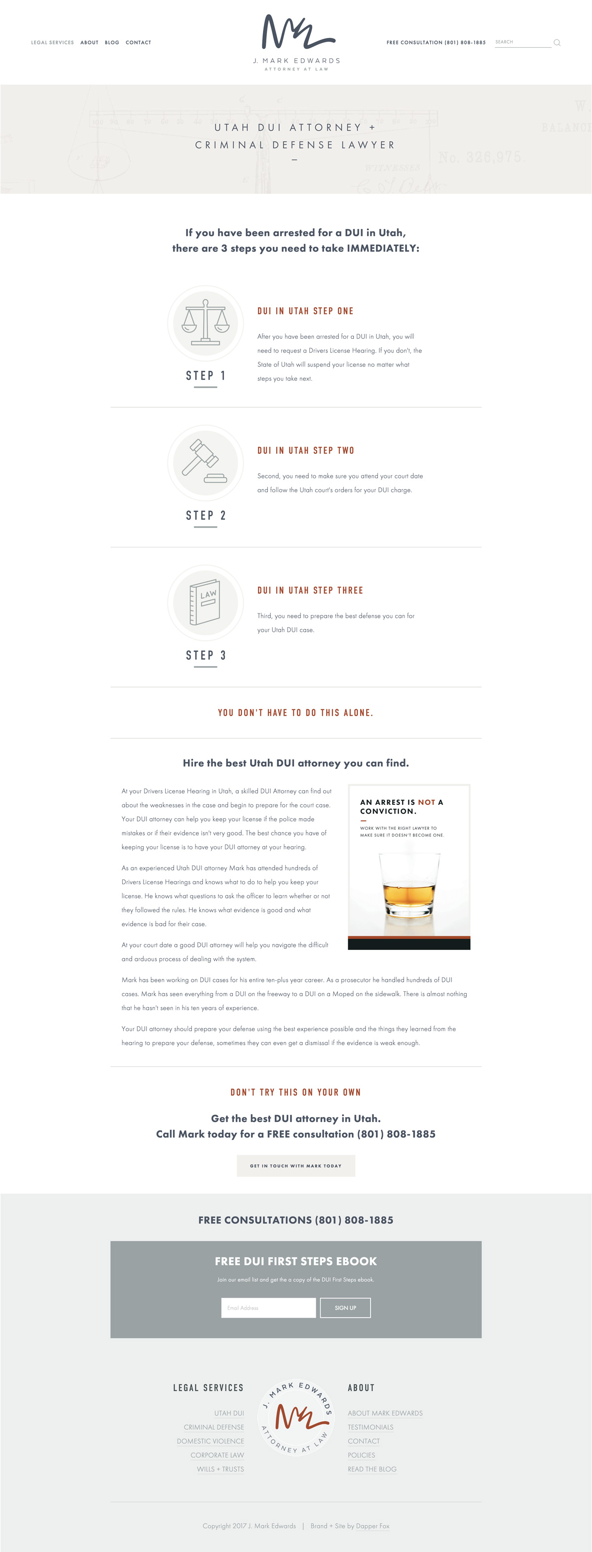Lawyer Attorney Utah Squarespace Website Design and Branding by Dapper Fox Design
