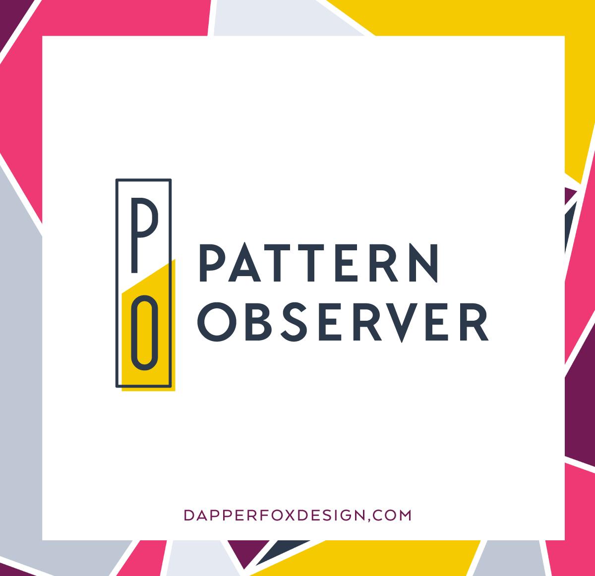 Pattern Observer Designer Feminine Modern Logo Design by Dapper Fox