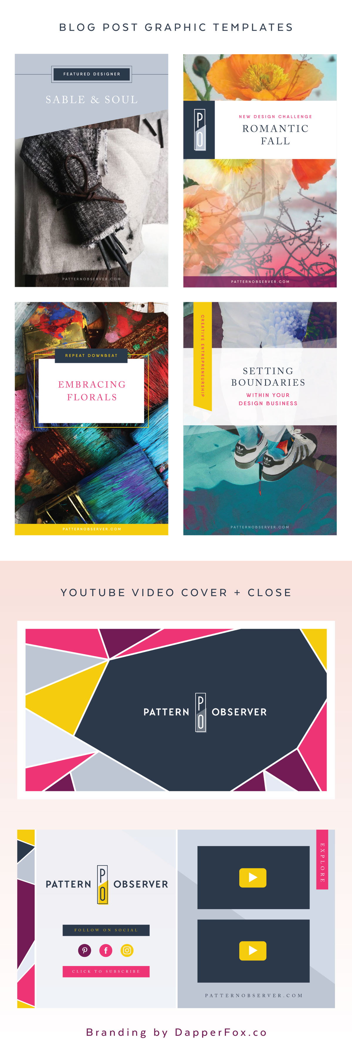 Brand Collateral Video templates and Blog Graphic Design by Dapper Fox