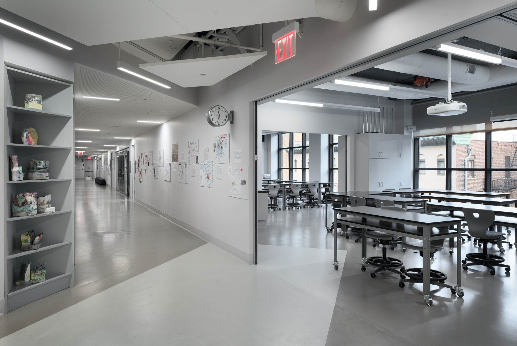 Avenues: New York - Co.Lab Classroom & Corridor