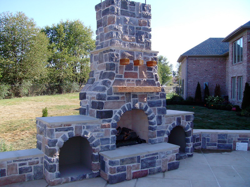 Steel Outdoor Fireplace & Custom Outdoor Fireplace