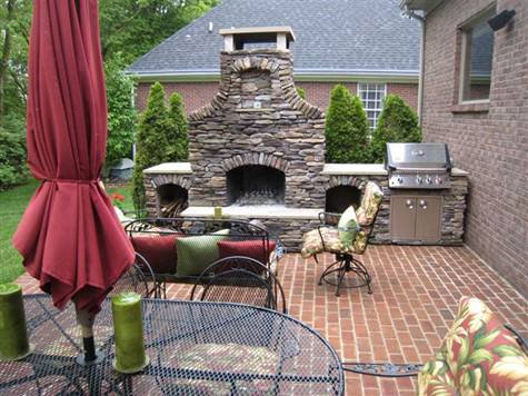 Modular Outdoor Fireplace & Custom Outdoor Fireplace & Cocktail Center