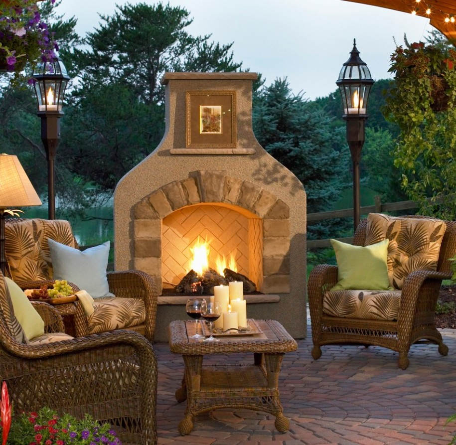 Copper Outdoor Fireplace & Custom Outdoor Fireplace