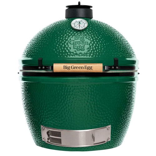 XLarge - The XLarge Big Green Egg provides a cooking area that can easily accommodate meals for large families and cookouts with all your friends. You can also efficiently prepare several meals over the coals at once. Ready to serve up twelve racks of ribs, twenty-four burgers or a couple of holiday turkeys with all the trimmings? No problem!