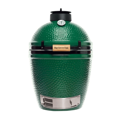 Medium - Happiness in a smaller package! ! The Medium Big Green Egg is perfectly sized for smaller families and couples. It accommodates all the most popular EGGcessories like the convEGGtor and Pizza & Baking Stone. You can get all the famous Big Green Egg versatility and efficiency with plenty of cooking area to accommodate a cookout of four steaks or two whole chickens.