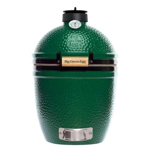 Small - Big Flavor in a compact package! The Small Big Green Egg is an easy fit for smaller patios and balconies. It is able to prepare four burgers or chicken breasts at a time. The Small Big Green Egg is often used as a companion for the 2XLarge, XLarge, Large or Medium EGG to allow the preparation of several courses at once.