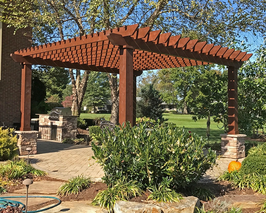 Pergolas - A room like feel right in your backyard - pergolas are a great way to define you outdoor living space