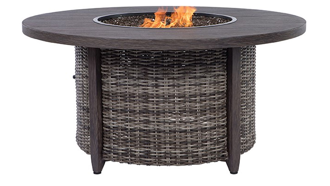 Round Fire Pit - Woven Hickory
