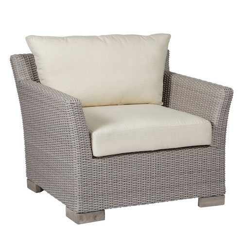 Club Woven lounge chair - Dimensions: W36.5 D33.5 H29.25