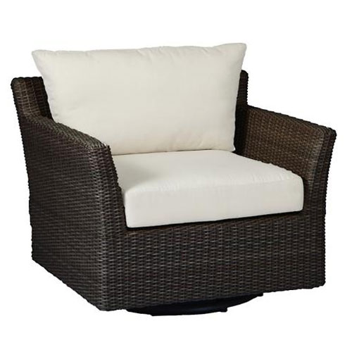 Club woven swivel glider - Dimensions: W38.25 D33.5 H30