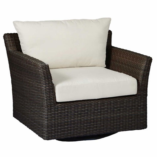 club woven swivel lounge - Dimensions: W38 D33.5 H29.5