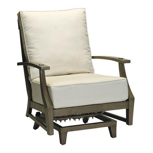 Croquet Aluminum Spring Lounge - Dimensions: W32 D35.75 H37.75