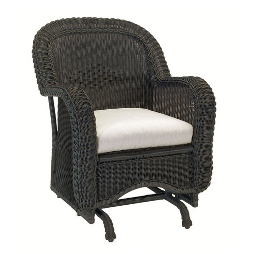 classic wicker single Glider  - Dimensions: W29 D37 H38.5