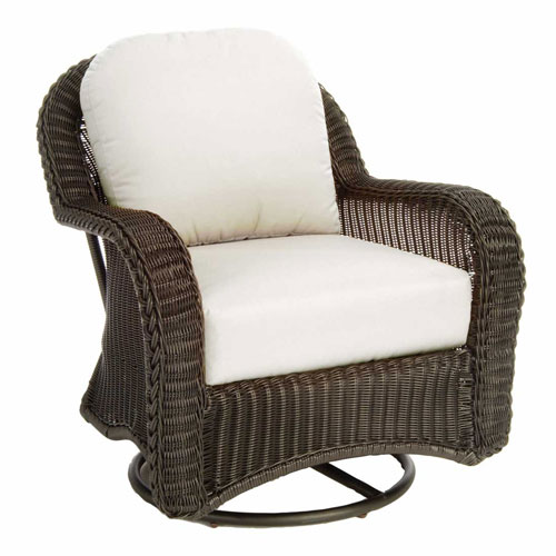 classic wicker swivel glider - Dimensions: W34.5 D40 H37.5