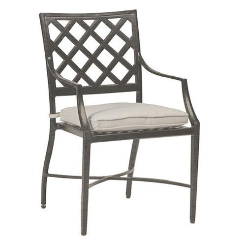 lattice arm chair - Dimensions: W22 D23.75 H36.25