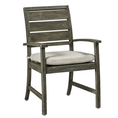 charleston teak arm chair - Dimensions: W24 D24.5 H36