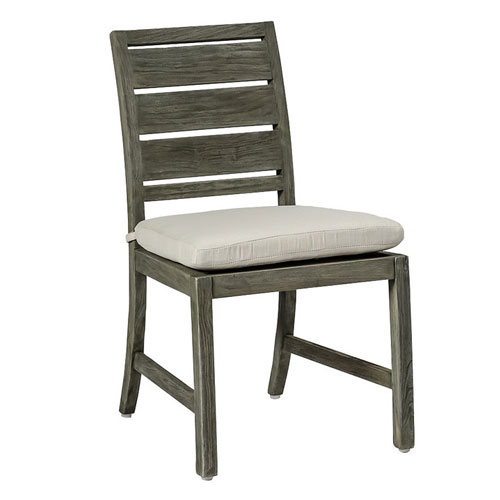 charleston teak side chair - Dimensions: W20.125 D24 H35.5