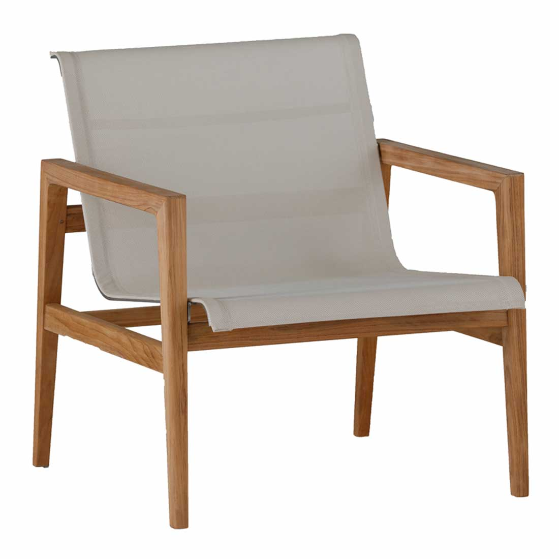 coast teak lounge chair - Dimensions: W26.75 D28 H30