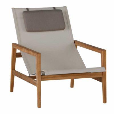 coast teak easy chair - Dimensions: W27.25 D43 H33.5