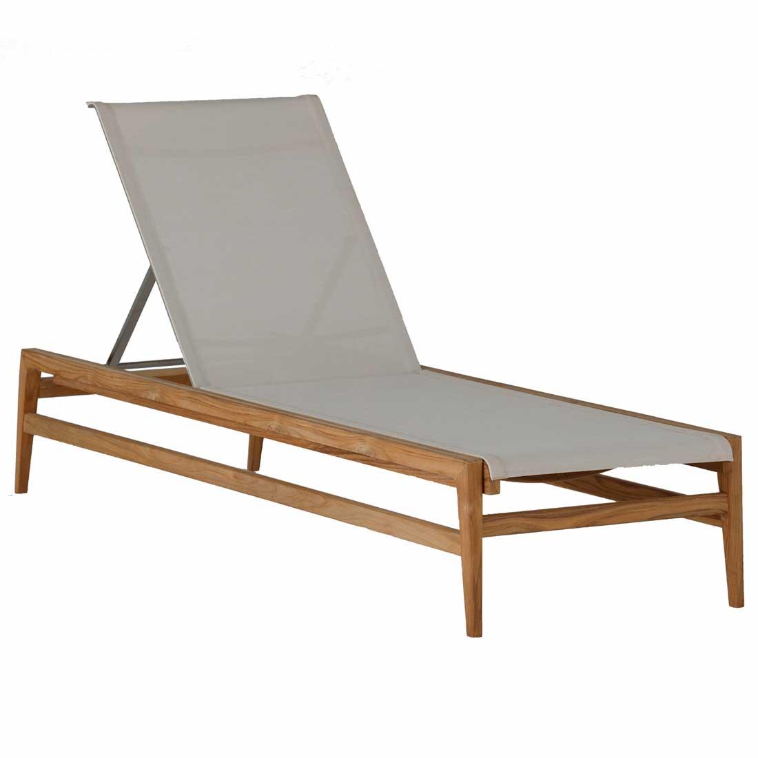 coast teak chaise lounge - Dimensions: W27 D79.75 H37.5