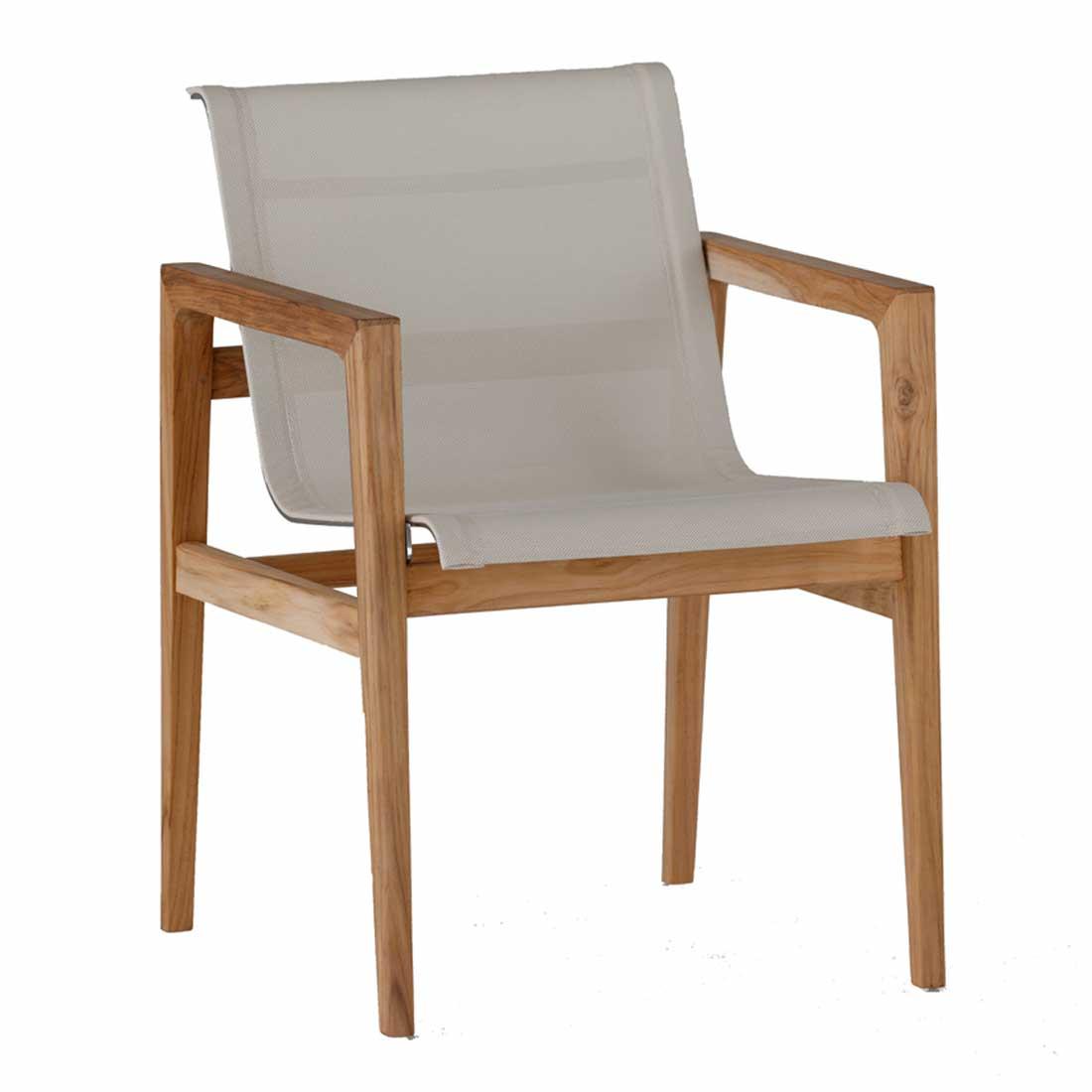 coast Teak Arm Chair - Dimensions: W22 D23 H31.5