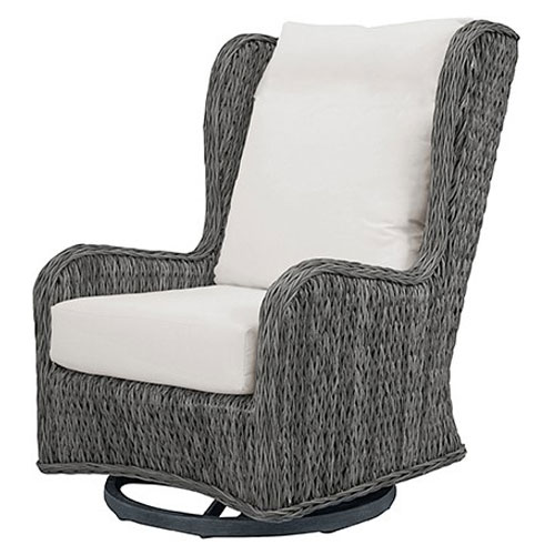 Belfort wingback Club Swivel Glider - Dimensions: W31 D37 H41