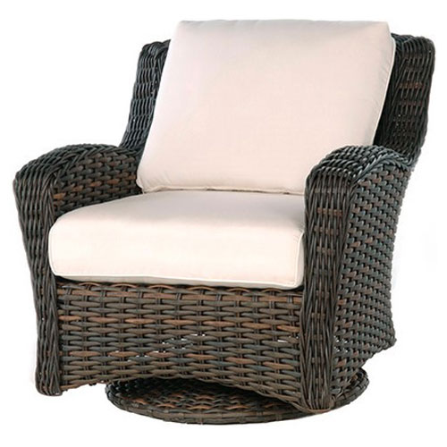 Dreux Club Swivel Glider - Dimensions: W33.5 D38 H34.5