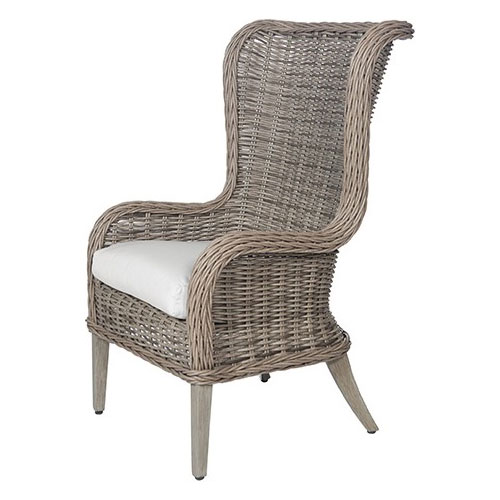 Bellevue Wingback Host Chair - Dimensions: W24.5 D29.5 H45