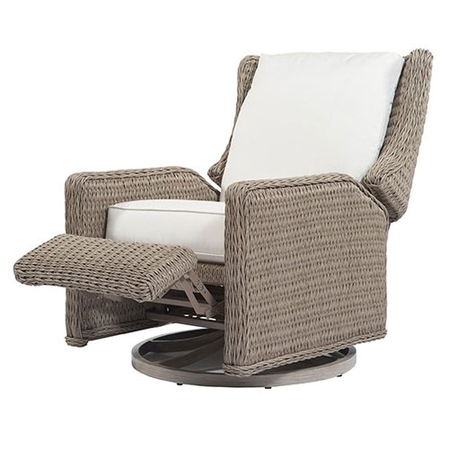 Geneva Swivel Recliner - Dimensions: W32 D39.5 H43.5
