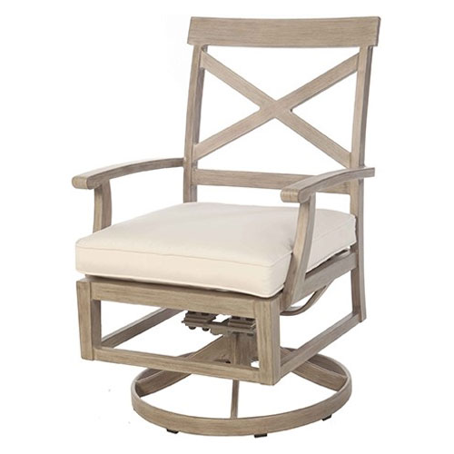 Portofino Dining Swivel Rocker - Dimensions: W23.5 D26.5 H37