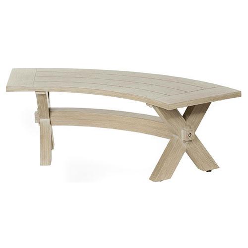 Portofino Curved Bench - Dimensions: W50.5 D21 H16