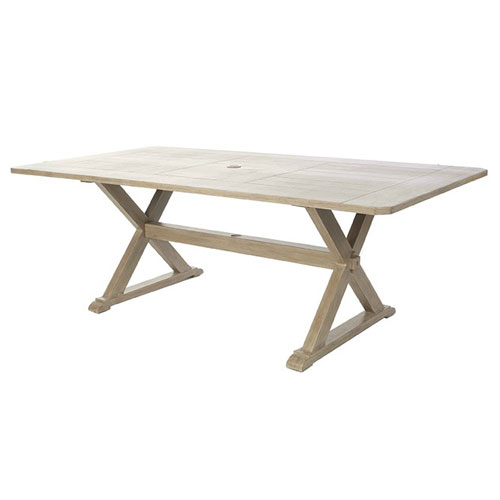 "Portofino 42"" x 82"" Rectangular Dining Table  - Dimensions: W82 D42 H29"