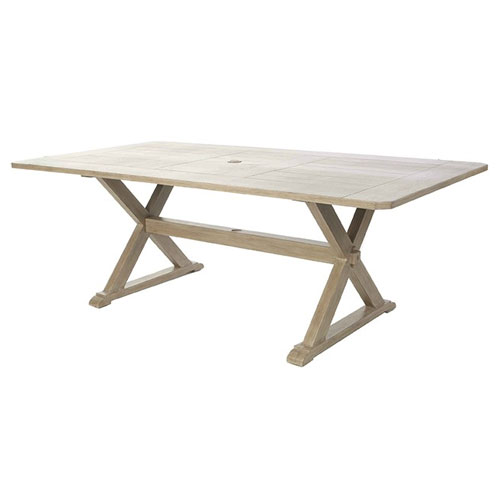"Portofino 112"" Rectangular Dining Table - Dimensions: W112 D42 H29"